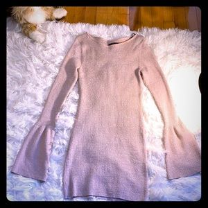 Material girl rose gold sweater dress